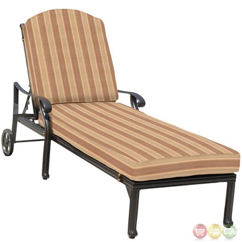chaises exterieur brentwood 3 cast aluminum outdoor chaise lounge set