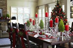 Christmas Dining Table Decorating Ideas Home Trendy