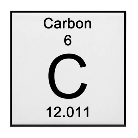 Periodic Table Carbon Tile Coaster by Science_Lady
