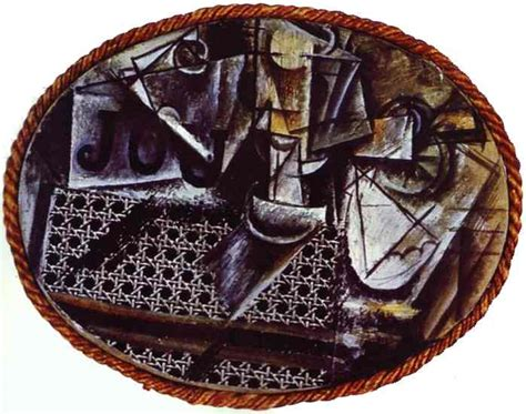 Still With Chair Caning Collage by His Story Story No Cubes Left In Cubism Picasso And