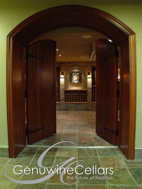 custom wine cellar doors genuwine cellars