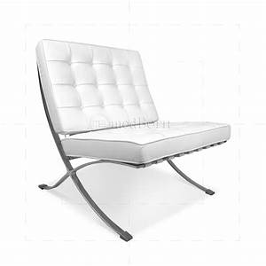 Ludwig Mies Van Der Rohe Barcelona Style Chair White