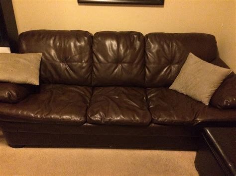 Chocolate Brown Leather Pull Out Sofa Couch Hide A Bed
