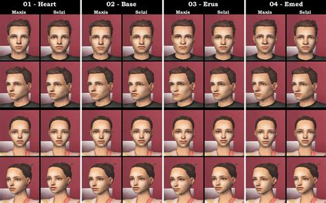 the sims 2 face replacement templates mod the sims defuglified maxis faces 27 cas face