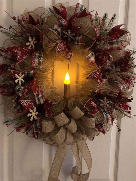 primitive wreath ideas  pinterest christmas