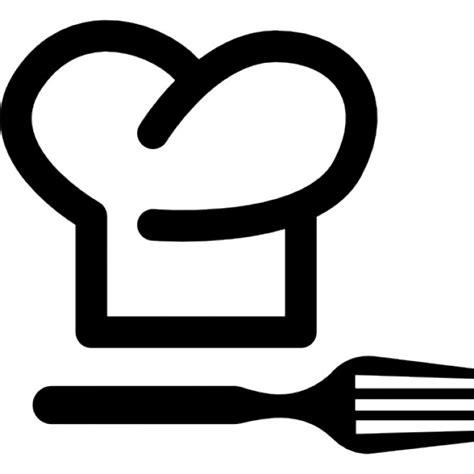 bloc de couteau de cuisine chapeau de chef et une fourchette télécharger icons