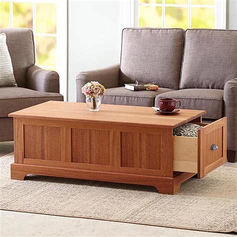 coffee table  storage drawers woodworking plan  wood magazine