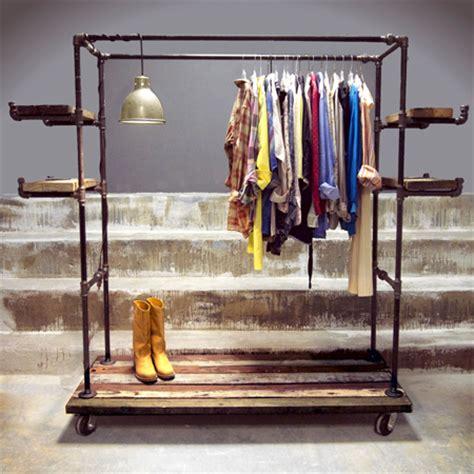 industrial clothing rack home dzine home diy galvanised pipe clothes racks rails