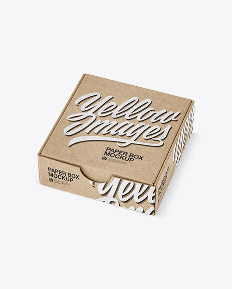 Get custom mailer boxes in any design with free design support for all. Kraft Paper Box Mockup - Half Side View (High-Angle Shot ...