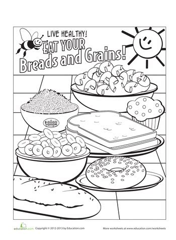 food coloring pages printables educationcom