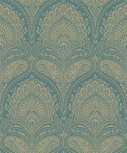 non woven wallpaper baroque turquoise gold wallpapers With balkon teppich mit non woven tapeten