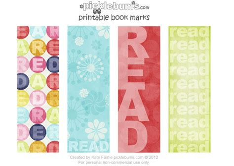 free printable bookmarks free printable bookmarks for book week