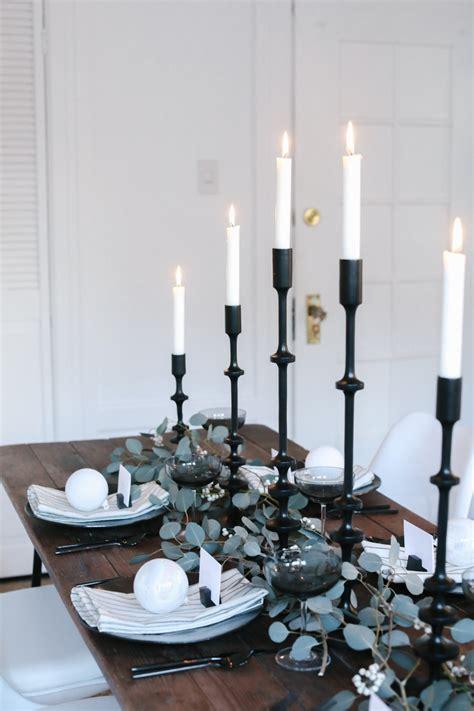 fresh modern christmas table setting ideas