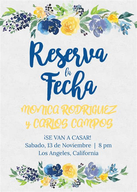 save date reserva la fecha spanish wedding espanol