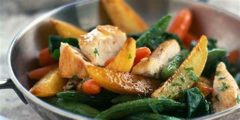 recette de cuisine au wok wok de légumes au poulet recettes femme actuelle