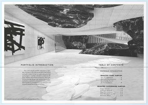 11439 architecture portfolio table of contents work sle portfolio eileen won archinect