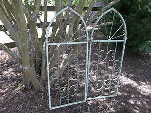 Cindy Architectural Salvage Wrought Iron Gate Fragment