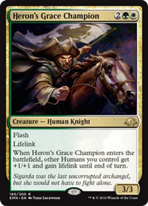 mtg world chionship decks wiki heron s grace chion creature cards mtg salvation