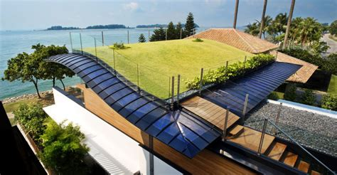 environmentally friendly modern tropical house  singapore idesignarch interior design