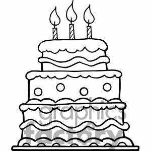 Birthday Cake Clipart Black And White | Clipart Panda ...