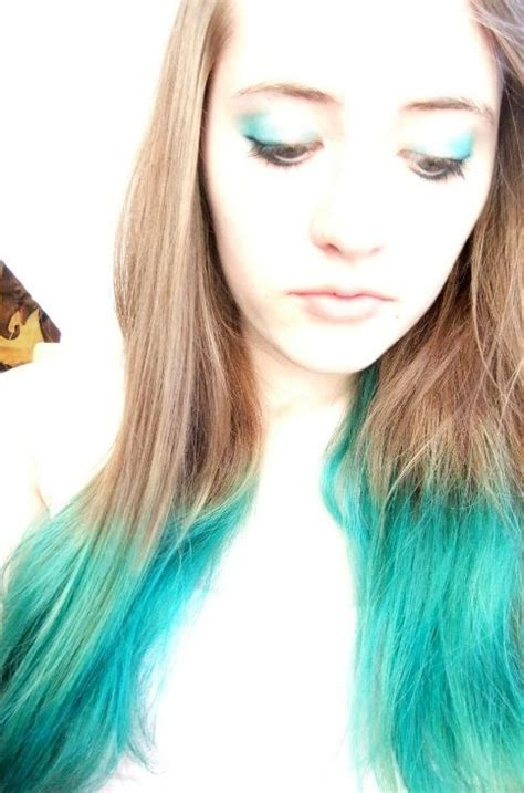 Turquoise Hair Brown Hair With Blue Tips Turquoise