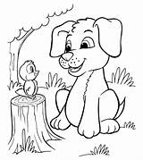 Puppy Coloring Pages Printable Cute sketch template
