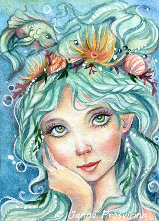 mermaid art fantasy art  janna prosvirina