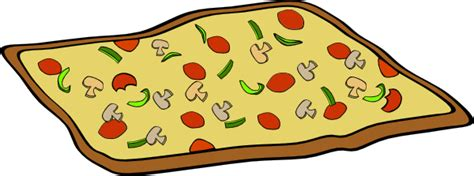 Rectangular Veggie Pizza Clip Art Free Vector / 4vector