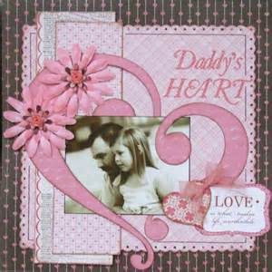 Daddy's Heart Scrapbook Page