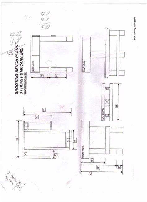 shooting bench plans plans diy   indoor wooden