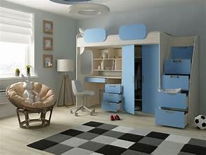 Hochbett 1 40x2 00 : hochbett geko blau kinder komfort ~ Bigdaddyawards.com Haus und Dekorationen