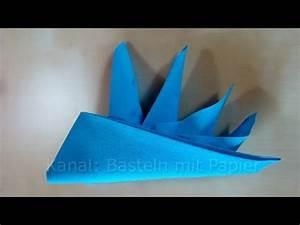 Youtube Servietten Falten : papierservietten falten schiffchen z b f r geburtstag youtube ~ Frokenaadalensverden.com Haus und Dekorationen
