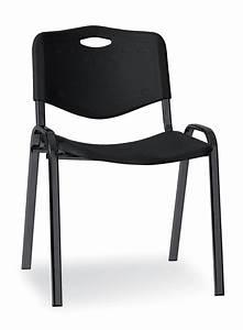Chaise Plastique Noir : chaise visiteur 4 pieds saturn plastique noir lot de 4 ~ Teatrodelosmanantiales.com Idées de Décoration