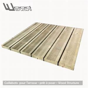 Terrasse En Caillebotis : caillebotis bois pour terrasse pr t poser wood structure ~ Premium-room.com Idées de Décoration