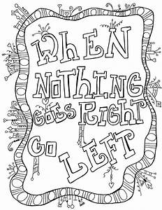 COLORING PAGE- digital download with inspirational quotes ...