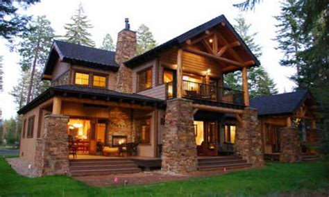 mountain lodge style home plans small craftsman style