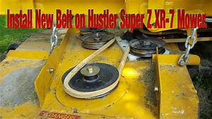 Do It Yourself  How To Install Mowing Belt On Hustler