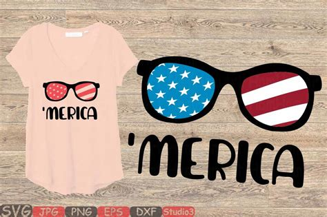 This set of free 4th of july sunglasses svg files is perfect for independence day, memorial day, and any other patriotic project! Merica SVG flag sunglasses svg 4th of July Svg 92SV By ...