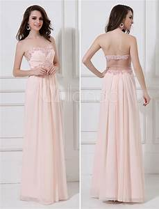 peach evening dress chiffon beaded prom dress strapless With robe mariage rose
