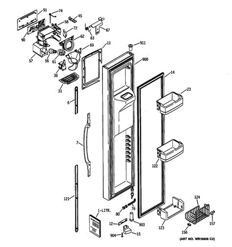 ge gss25lgmaww refrigerator parts and accessories at