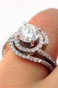 double swirl diamond halo engagement ring wrap wedding With wedding wrap ring
