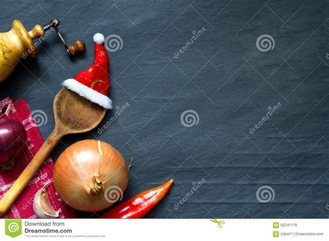 Christmas Cooking Abstract Food Background Stock Photo