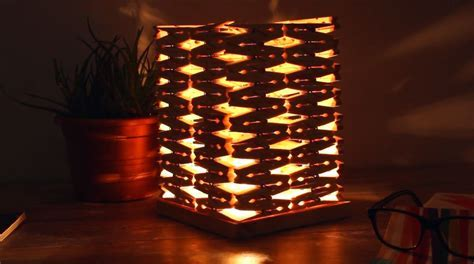 Hot Glue Clothespins into a Stylish Table Lamp