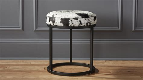 Black And White Stool by New Cowhide Furniture From Cb2 Horses Heels