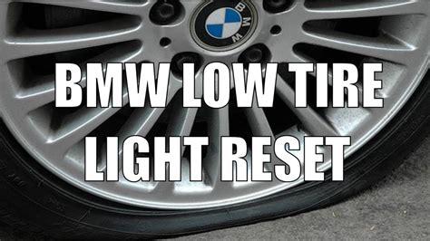 reset bmw  tpms  tire warning light video youtube