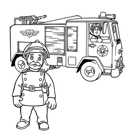 Brandweerman Sam Kleurplaat Titan by Leuk Voor Commandant Sam In De Brandweerwagen