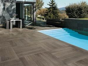 Carrelage Terrasse Piscine : terrasse piscine carrelage imitation bois carrelage ~ Premium-room.com Idées de Décoration