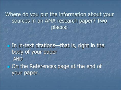 ppt writing a research paper in ama style powerpoint