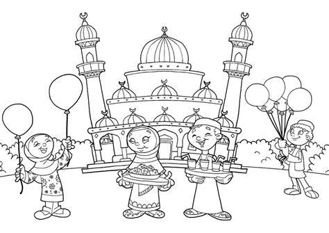belajar mewarnai masjid