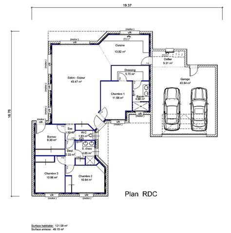 plan maison 3 chambres 1 bureau plan maison etage 4 chambres 1 bureau solutions pour la